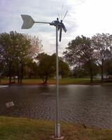 Olpe Jones Park Pond windmill