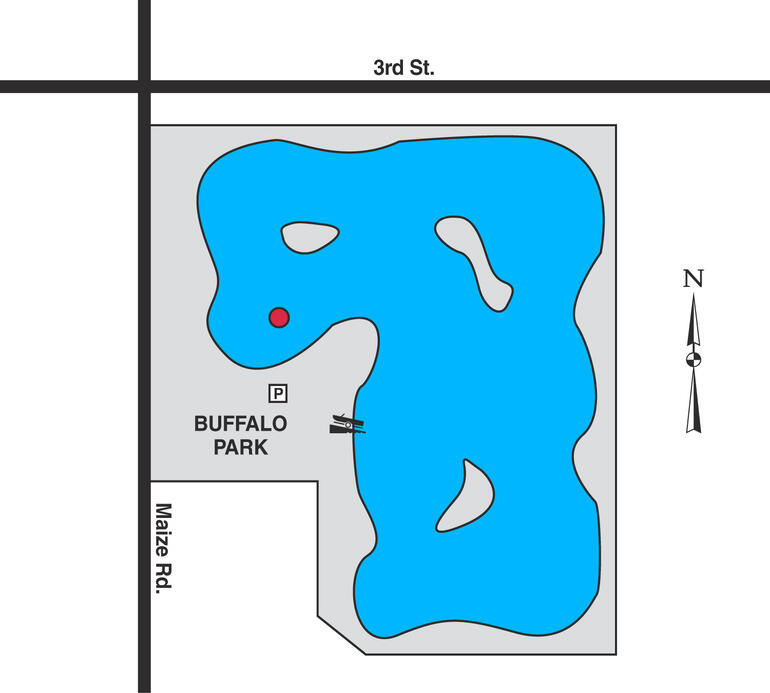 Map of Wichita Buffalo Park Lake