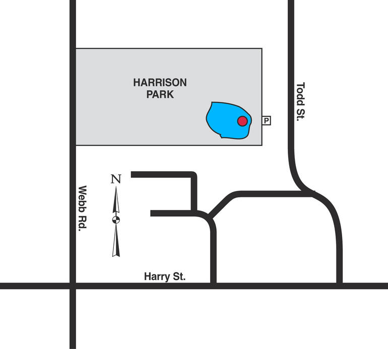 Map of Wichita - Harrison Park Pond