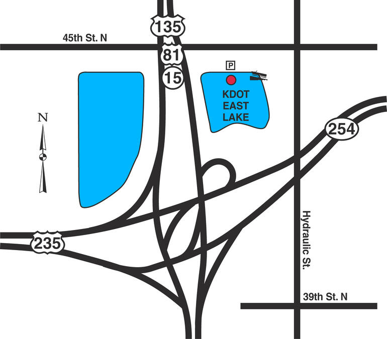 Map of Wichita KDOT East Lake