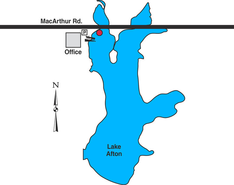 Map of Sedgwick County, Lake Afton
