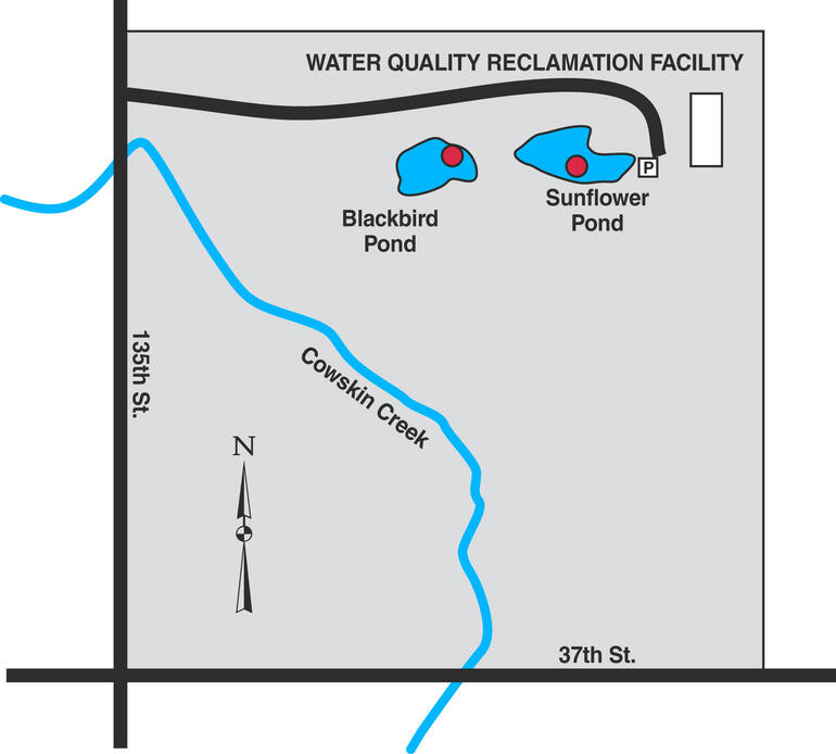 Map of Wichita NW Water Reclamation Ponds