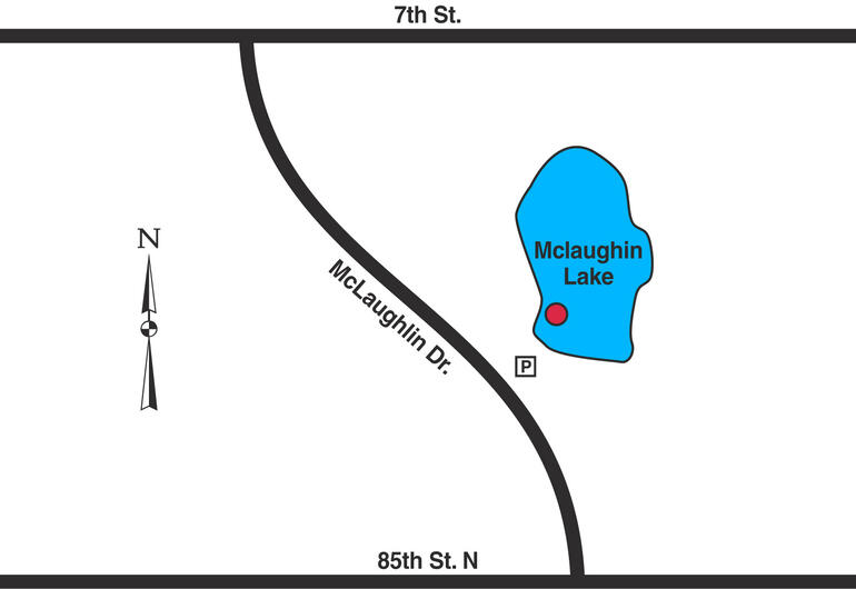 Map of Valley Center McLaughlin Lake.