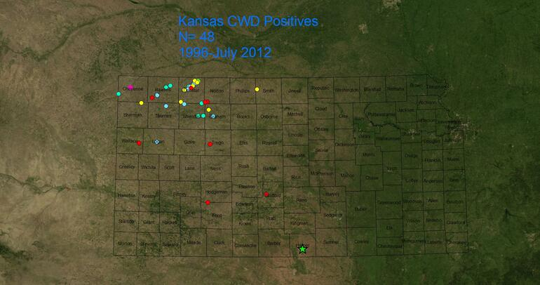 CWD History of Detection in Kansas
