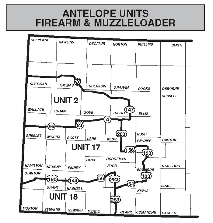Antelope Firearms Unit Map