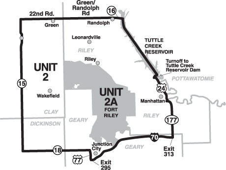 Elk Management Unit 2 Map