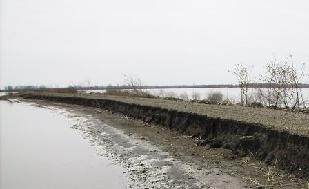 Jamestown Flood Damage on Gun Club Levee