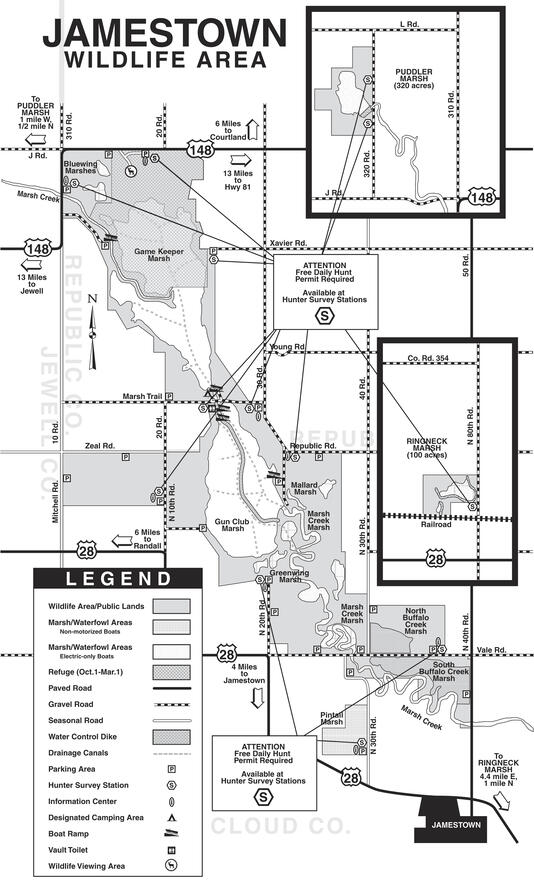 Jamestown Wildlife Area Map