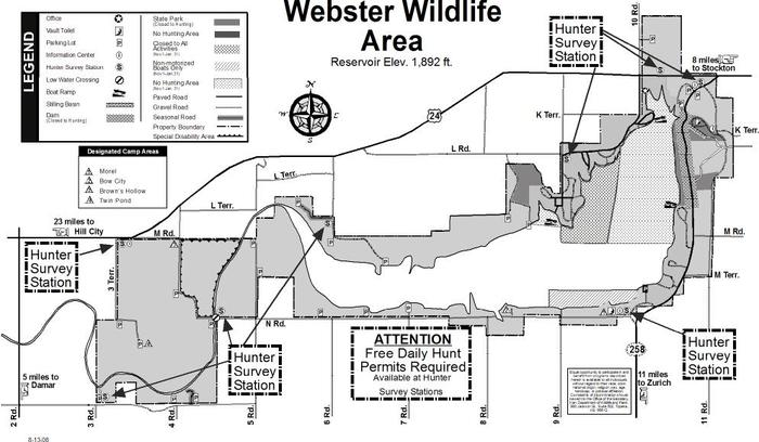 2010 - 2011 WEBR Waterfowl Refuge Map
