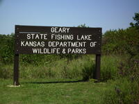 Geary State Fishing Lake Main Entrance Sign