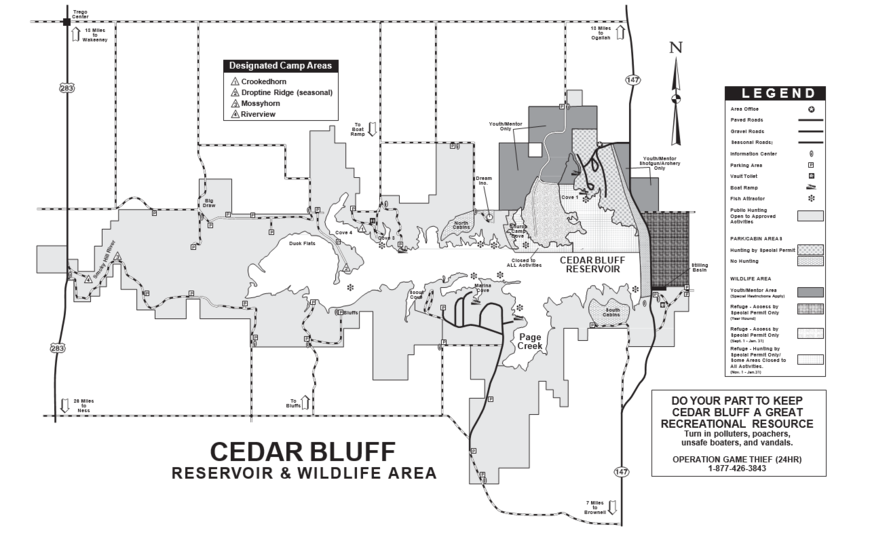 Cedar Bluff Waterfowl Refuge