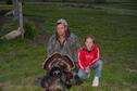 Assistant Manager Toby Marlier and daughter Prairie after a local turkey hunt