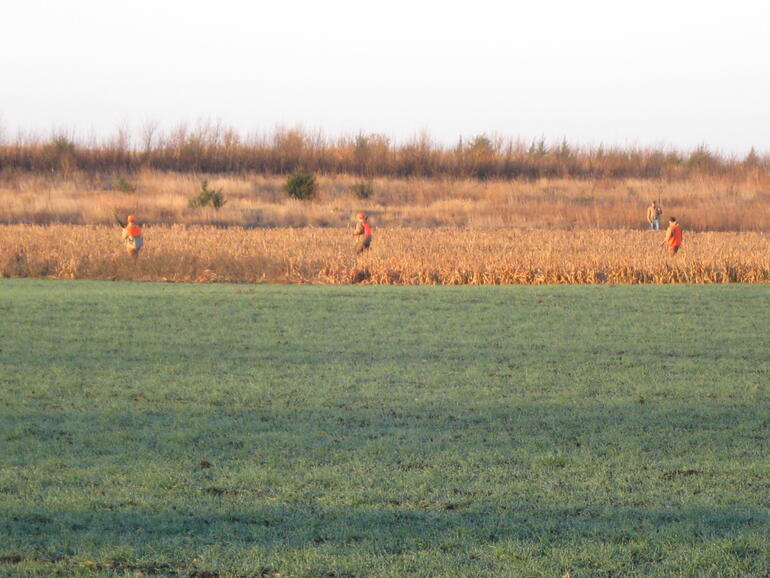 hunters in the field