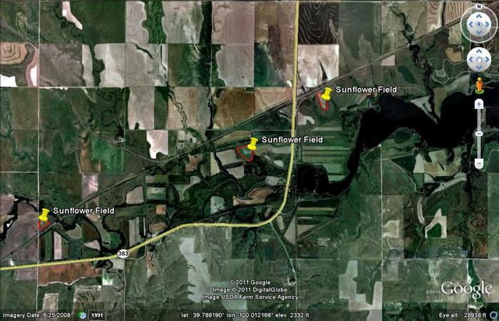 Norton sunflower fields map images glen elder for Glen elder fishing report