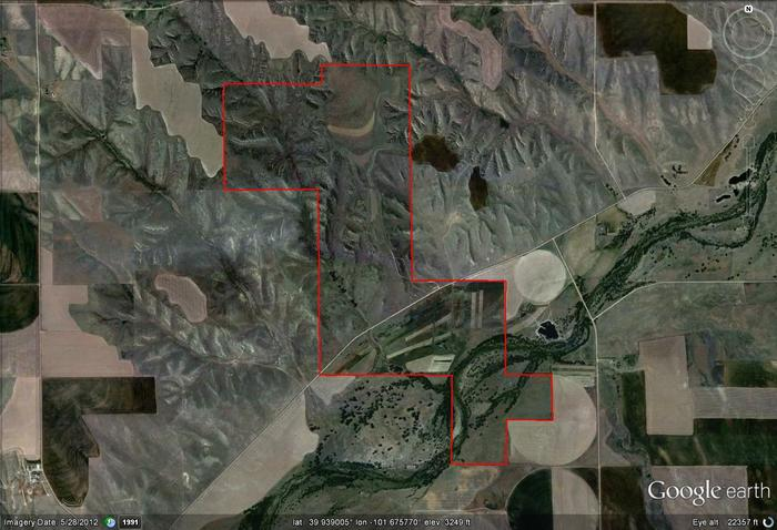 South Fork Google Earth Image