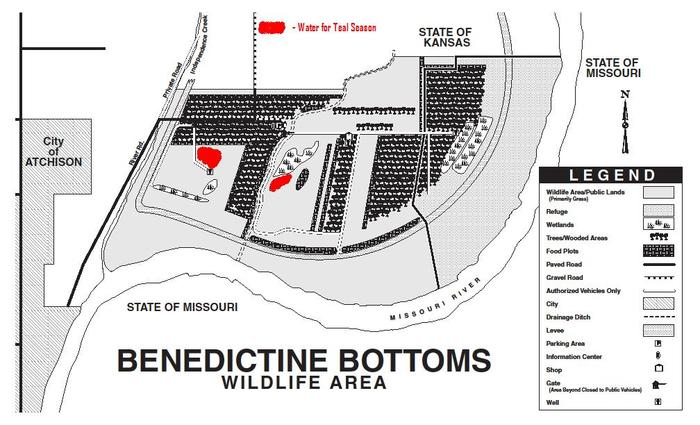 Benedictine Teal Season Wetland Map