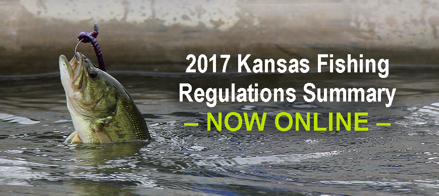 2017 fishing regulations summary available online 1 5 17 for Kansas state fishing license
