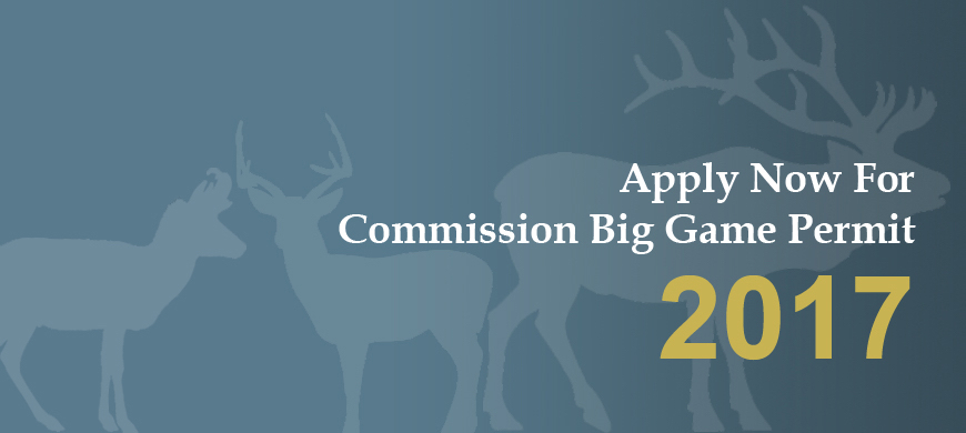 Fund Your Conservation Project With A Commission Big Game Permit