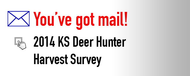 ONE IN THREE DEER HUNTERS TO RECEIVE E-MAIL SURVEY
