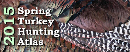 SPRING TURKEY HUNTING ATLAS MEGA-MAP OF WHERE TO HUNT