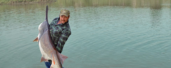 PADDLEFISH SPAWNING SEASON OFFERS BIG ANGLING OPPORTUNITIES