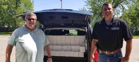 KDWPT 'sPublic Lands Division donated elk and bison meet to seven Kansas food banks.