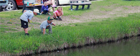 FISHY FUN TO BE HAD AT MILFORD NATURE CENTER KID'S FISHING CLINIC