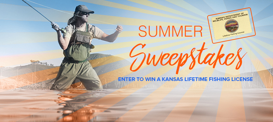 Lifetime fishing license sweepstakes 6 9 16 2016 for Kansas state fishing license