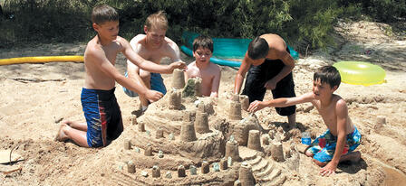 Lovewell State Park's Annual Sand Castle Contest July 19