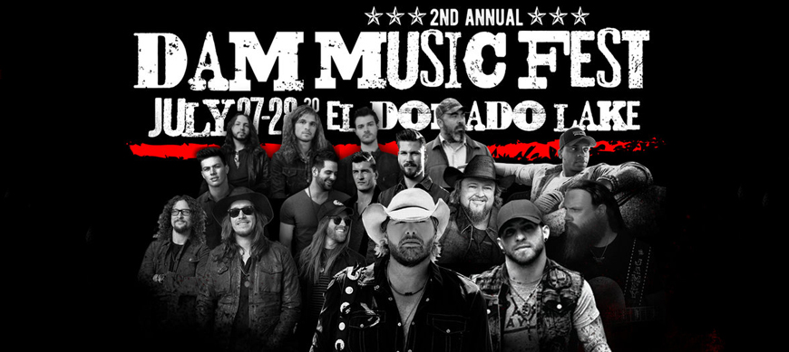 Toby Keith, Brantley Gilbert, Jamey Johnson to Perform at El Dorado State Park