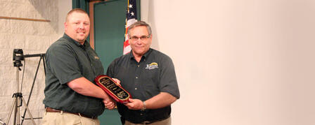 KDWPT BIOLOGIST RECEIVES AWARD FROM MIDWEST ASSOCIATION OF FISH AND WILDLIFE AGENCIES