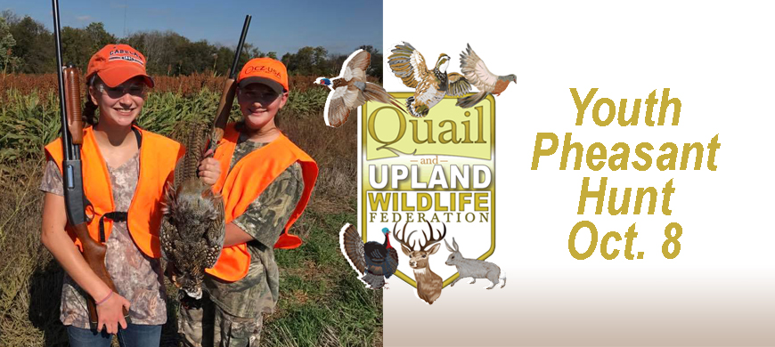 Youth Invited to Oct. 8 Pheasant Hunt