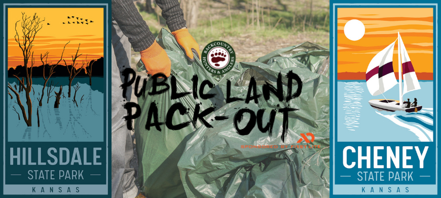 "KDWPT Partners with Kansas Chapter of Backcountry Hunters and Anglers to ""Pack It Out"""