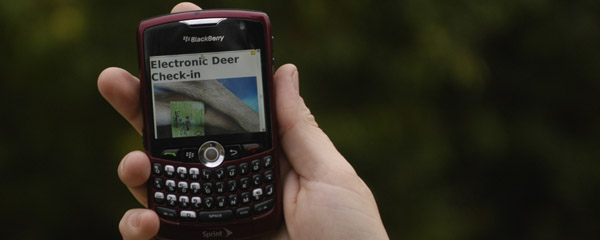 ELECTRONIC REGISTRATION OF DEER AVAILABLE / News 11-8-12