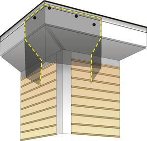 BAT BAFFLE ROOF CORNER