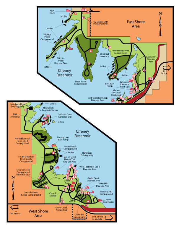 Cheney Park Maps Cheney Gallery Cheney Locations State Parks - Wilson lake map