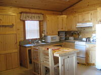 Inside Kitchen Living Area of Chicken Creek Cabin