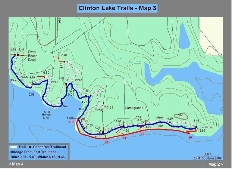 Trail Milage Map #3