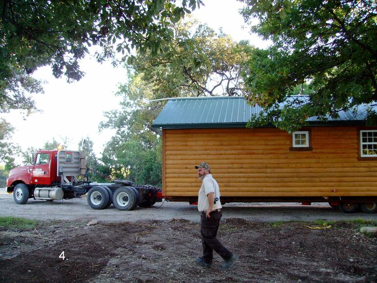4.  Working on getting the cabin positioned.