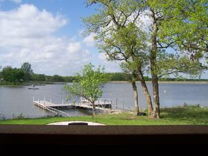 Dock in front of North Wind Cabin
