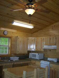 Kitchen area-Evening Breeze Point cabins