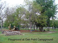 Playground at Oak Point Campground