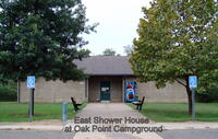 Restroom/Shower House at Oak Point Campground