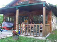 Shady Rest Cabin renters enjoying themselves