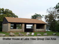Shelter House at Lake View Group Use area