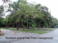 Southern end of Oak Point Campground-lake on right