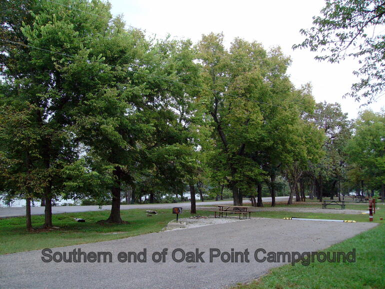 Southern end of Oak Point Campground