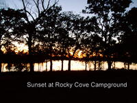 Sunset at Rocky Cove Campground