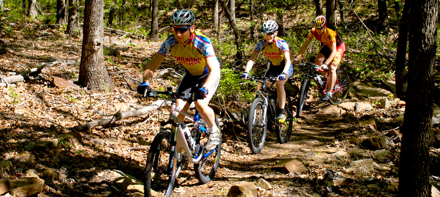 Cross Timber Bikers on Trail