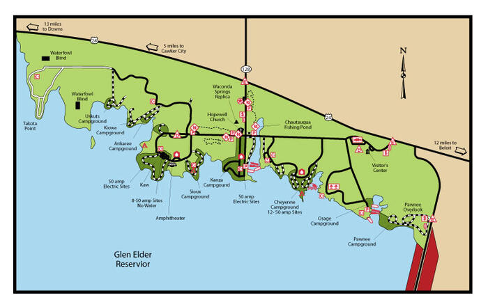 Glen Elder Camp Map